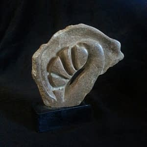 Soap Stone sculpture by Darcy Meeker, Leaf